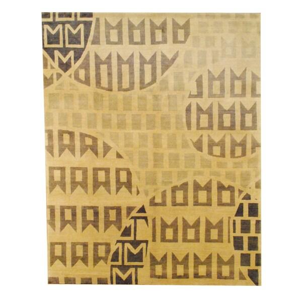 Herat Oriental Tibetan Hand-knotted Wool Rug - 8' x 10'