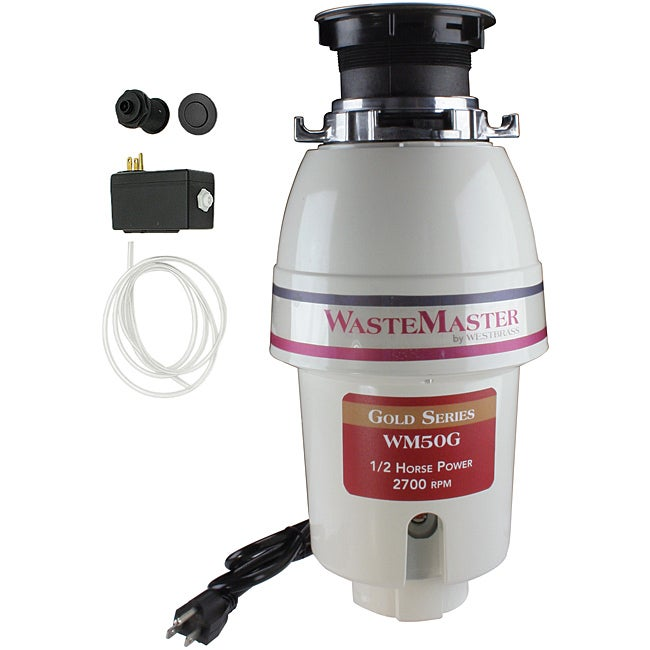 WasteMaster WM50G_12 1/2 HP Food Waste/ Garbage Disposal with Air Switch Kit