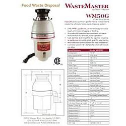 WasteMaster WM50G_12 1/2 HP Food Waste/ Garbage Disposal with Air Switch Kit - Thumbnail 1