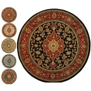 Medallion Traditional Kashan Formal Medallion Floral Area Rug (5'3 Round)