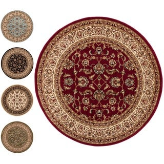 Well Woven Classic Oriental Round Rug - 5'3 (2 options available)