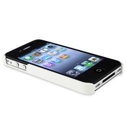 INSTEN White Matte Snap-on Phone Case Cover for Apple iPhone 4/ 4S - Thumbnail 1