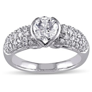 Miadora Signature Collection 14k White Gold 1 1/2ct TDW Certified Diamond Ring