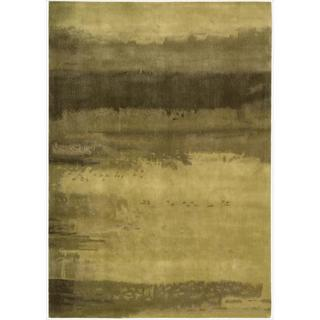 Nourison Home Hand-tufted Luster Wash Gold Rug (5'6 x 8')