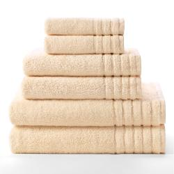 Celebration Super Zero Twist Solid 6-piece Towel Set - Thumbnail 1