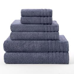 Celebration Super Zero Twist Solid 6-piece Towel Set - Thumbnail 2