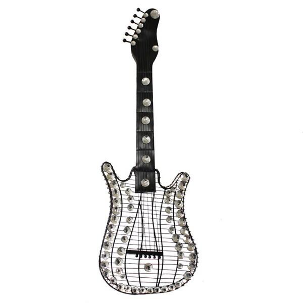 Shop Hand-finished Viva La Music 3-D Metal Guitar Wall Art Decor ...