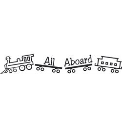 Nursey Boy Room Train 'All Aboard' Vinyl Wall Decal