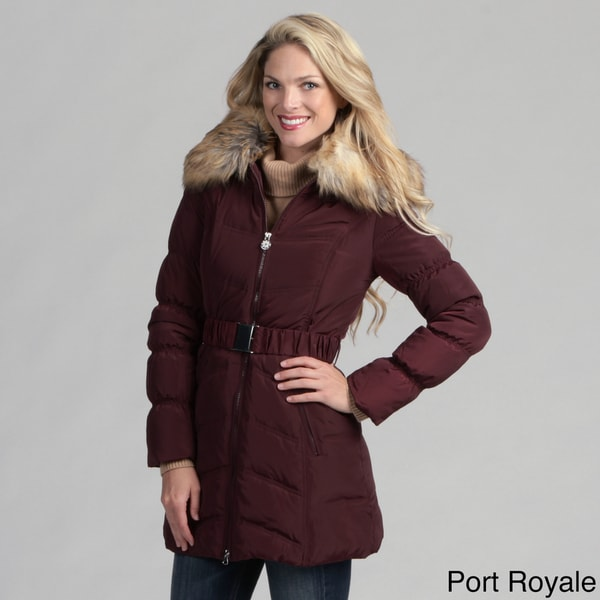 Laundry Women's Quilted Belted Down Coat FINAL SALE