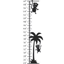Monkey Palm Tree Growth Chart Vinyl Wall Decal