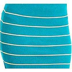 Stanzino Women's Green Striped Bandage Mini Skirt - Thumbnail 2