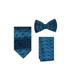 Ferrecci Men's Blue/black Vest Tie 4-piece Accessory Set