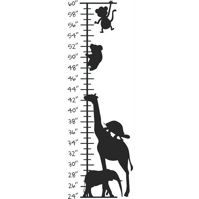 Shop Kids Room Cute Animals Growth Chart Vinyl Wall Decal Ships