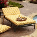 Alyssa Yellow Adjustable Outdoor Chaise with Corded Cushion
