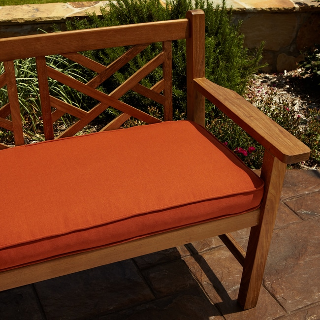 Clara Rust Indoor Outdoor 60 Inch Sunbrella Bench Cushion