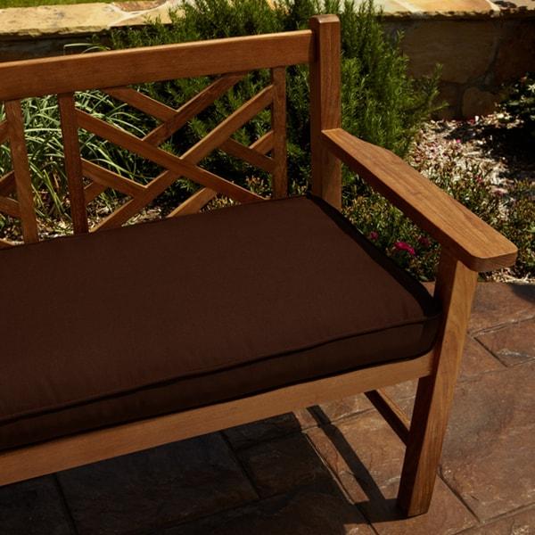 Clara Brown 60-inch Indoor/ Outdoor Sunbrella Bench Cushion