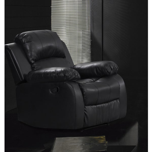 Rotunda Faux Leather Black Reclining Chair
