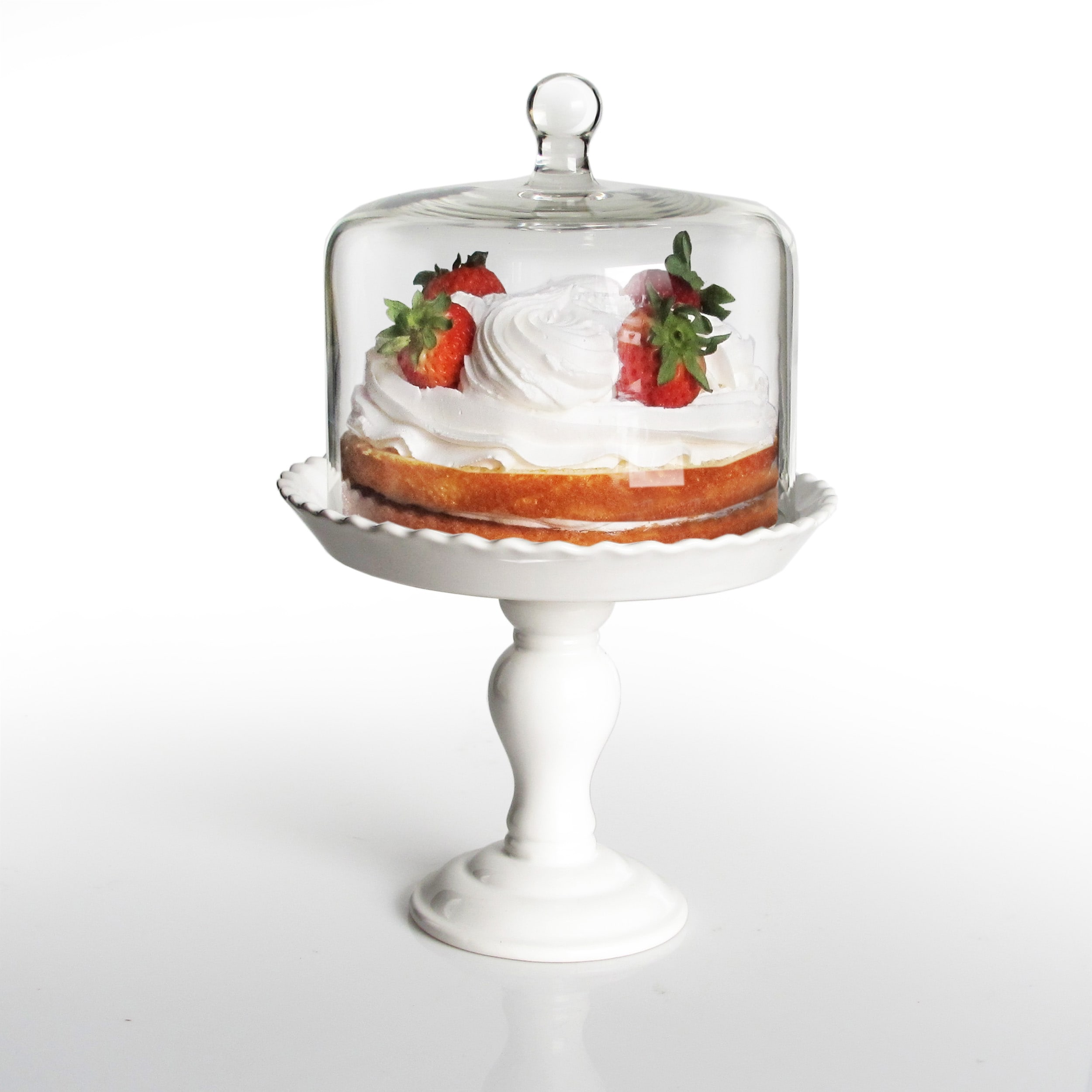 sanalee pedestal dome glass info with nz stand tag cake lid ceramic