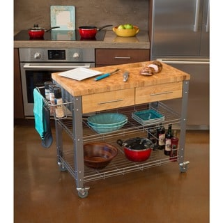 Chris & Chris Stadium Kitchen 1.5-inch thick Work Station with drawers