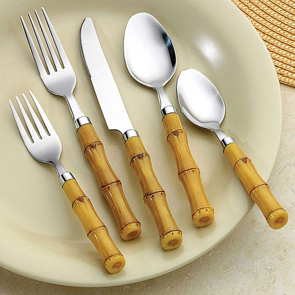 Best Bellamo Bamboo Style 26-piece Flatware Set (Service for 4) - Free  UP76