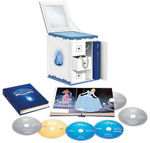 Cinderella: 6-Disc Trilogy Gift Set (Limited Edition Collectible Jewelry Box (Blu-ray/DVD)