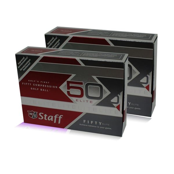 Case of 24 Wilson Staff 'Fifty Elite' White Standard-size Golf Balls
