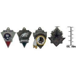 Carolina Glamour Collection Enamel-on-pewter NFC East Team Licensed NFL Pennant Necklace - Thumbnail 2