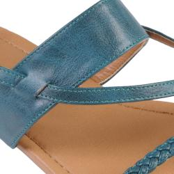Journee Collection Women's 'Grass-35' Strappy Thong Flat Sandals - Thumbnail 2