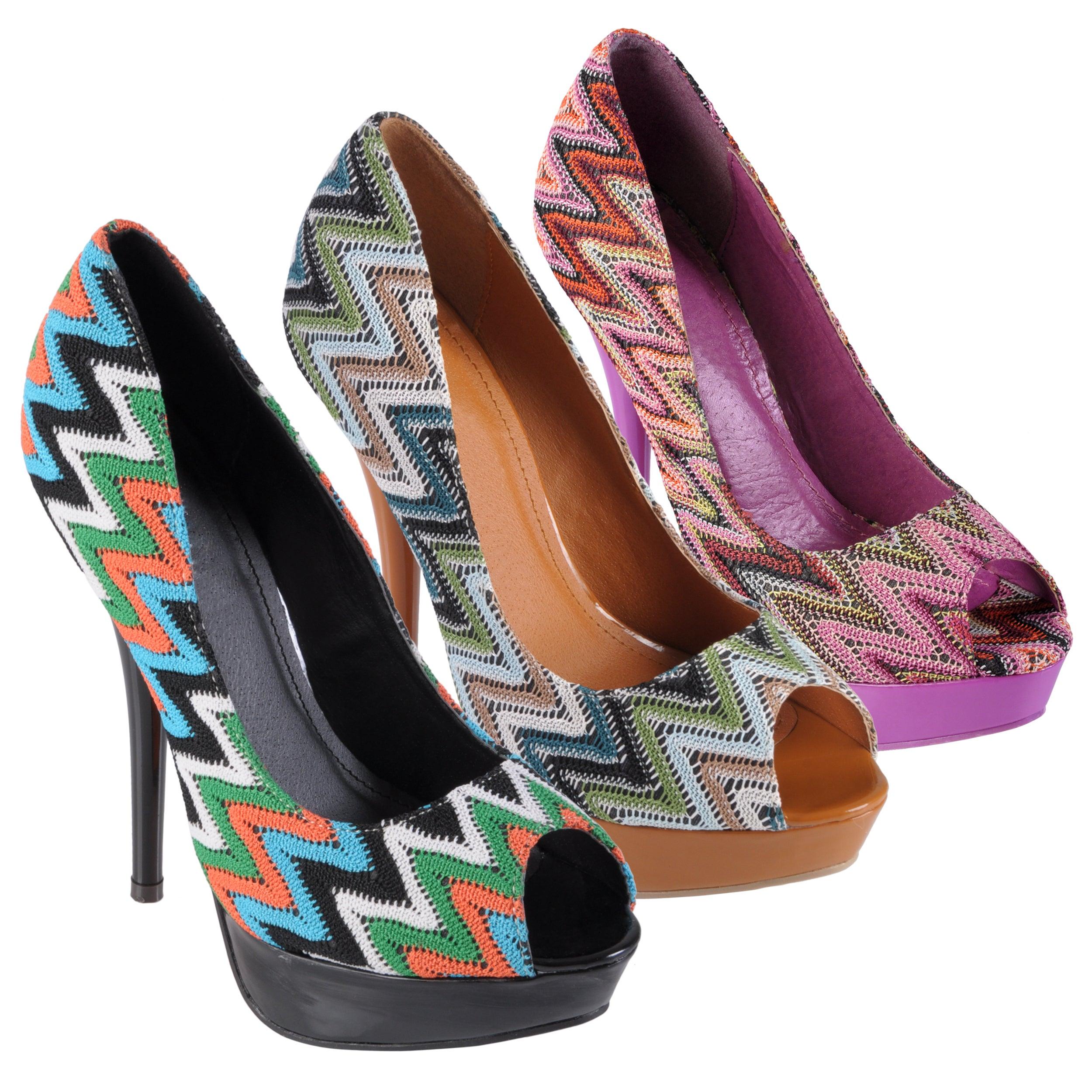 Hailey Jeans Co Women's 'Lamb-33' Open Toe Platform Stilettos