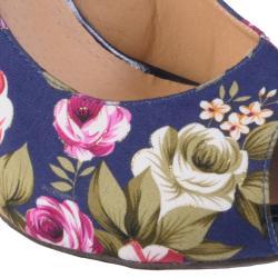 Hailey Jeans Co Women's 'Melt-38' Peep Toe Ankle Strap Wedge - Thumbnail 2