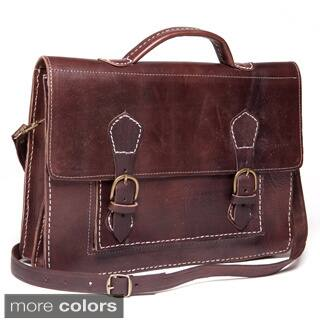 Handmade Leather Laptop Bag Briefcase (Morocco)|https://ak1.ostkcdn.com/images/products/6713021/P14263092.jpg?impolicy=medium