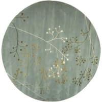 Safavieh Handmade Soho Vine Light Blue New Zealand Wool Rug - 6' x 6' Round