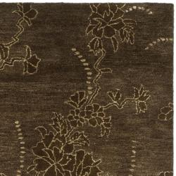 Safavieh Handmade Soho Fall Brown New Zealand Wool Rug (6' Square) - Thumbnail 1