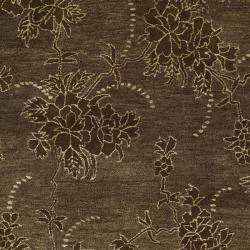 Safavieh Handmade Soho Fall Brown New Zealand Wool Rug (6' Square) - Thumbnail 2