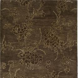 Safavieh Handmade Soho Fall Brown New Zealand Wool Rug (6' Square)