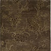 Safavieh Handmade Soho Fall Brown New Zealand Wool Rug - 6' x 6' Square
