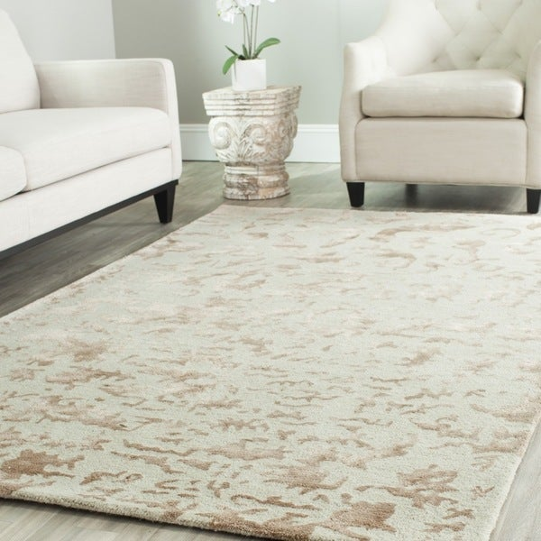 Safavieh Handmade Soho Ivory New Zealand Wool Rug (8'3 x 11')