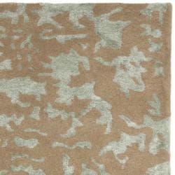 Safavieh Handmade Soho Taupe/ Light Grey New Zealand Wool Runner (2'6 x 12') - Thumbnail 1