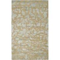 Safavieh Handmade Soho Taupe/ Light Grey New Zealand Wool Rug - 6' x 9'