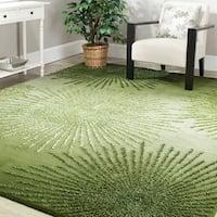 Safavieh Handmade Soho Burst Green New Zealand Wool Rug (8' Square) - 8'