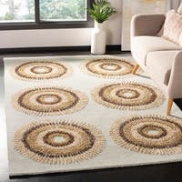 Safavieh Handmade Deco Explosions Light Blue/ Multi Wool Rug - 8' x 8' Round