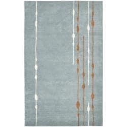 Safavieh Handmade Soho Modern Abstract Rain Blue Wool Rug (6' x 9')