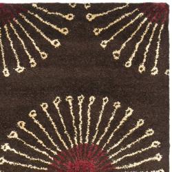 Safavieh Handmade Soho Zen Coffee/ Brown New Zealand Wool Runner (2'6 x 12') - Thumbnail 1