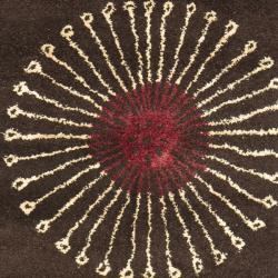 Safavieh Handmade Soho Zen Coffee/ Brown New Zealand Wool Runner (2'6 x 12') - Thumbnail 2
