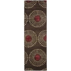 Safavieh Handmade Soho Zen Coffee/ Brown New Zealand Wool Runner (2'6 x 6')