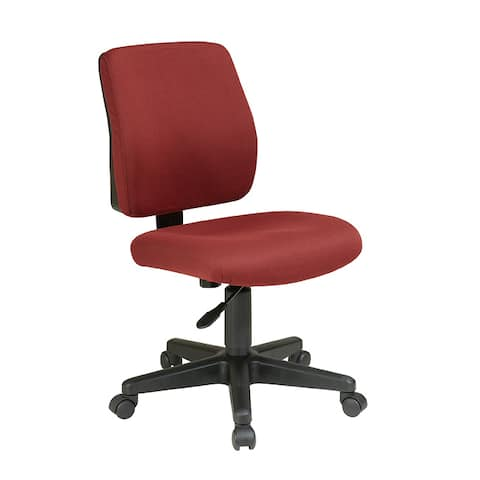 Deluxe Task Chair with Ratchet Back Height Adjustment without Arms