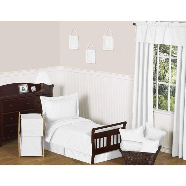 Sweet JoJo Designs White Diamond 5-piece Toddler Bedding Set