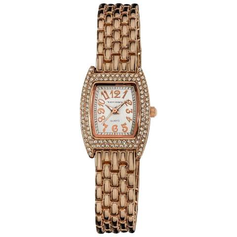 Vernier Women's Rose-Tone Classic Feminine Quartz Watch