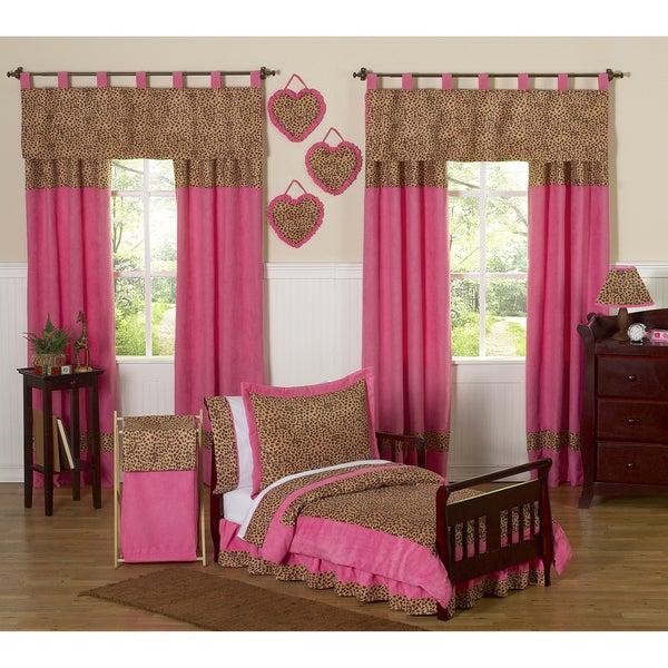 Sweet JoJo Designs Cheetah Girl 5-piece Toddler Bedding ...