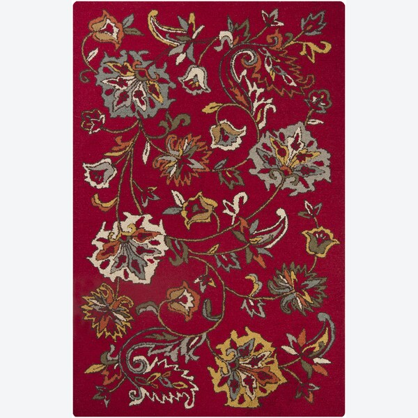 """Artist's Loom Hand-tufted Transitional Floral Wool Rug - 5' x 7'6"""""""